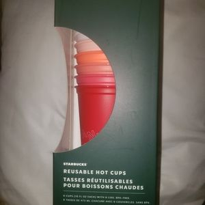 Starbucks Reusable Hot Cups Holiday 24 oz NEW